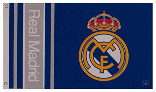 Real Madrid Football Club Official Striped Large Flag Big Crest Game Fan Banner