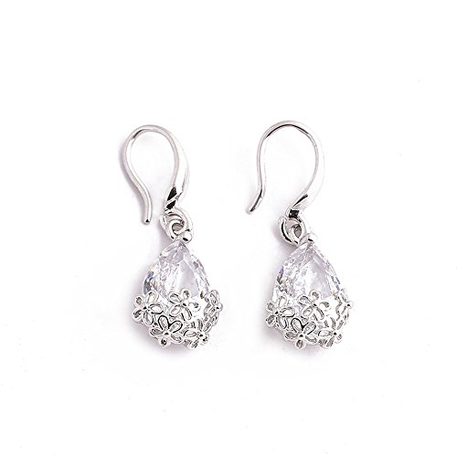 Great Deal! NEWHE Fashion Drop Hoop Earrings for Women,Delicate Flowers Pierced Pendant Earrings,for...