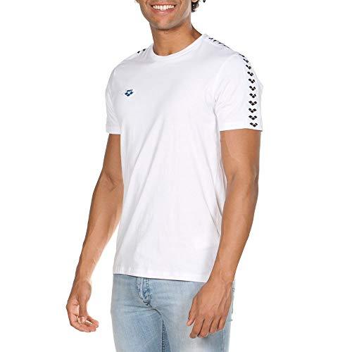 Arena M Team S/S, Maglietta Sportiva Uomo, Bianco (White), XL