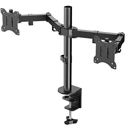 WORLDLIFT Monitor Halterung 2 Monitore Höhenverstellbar für Zwei LED LCD 17