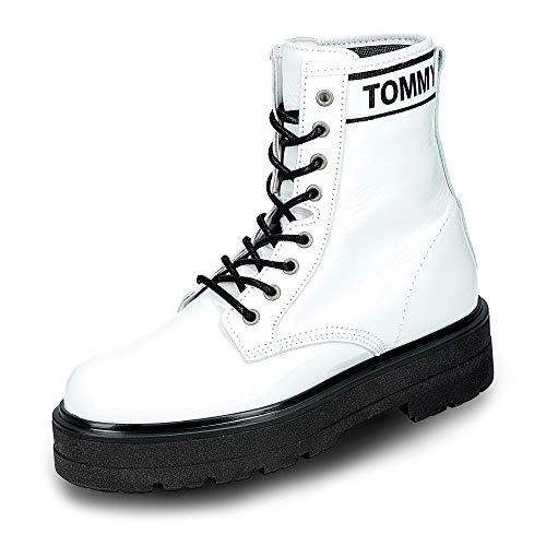 Tommy Jeans Damen Schnürstiefel Weiss (10) 41