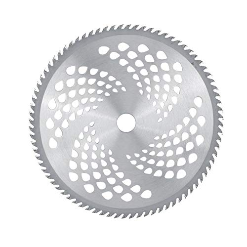 XinXinFeiEr Balanced Brush Cutter Blade 80T 255mm with Holes Alloy Steel Saw Cutting Blade Replacement Brush Cutter Accessories Safety (Color : Silver)