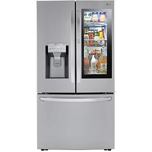 LG LRFVC2406S 24 Cu.Ft. Stainless Steel Smart Counter-Depth French Door Refrigerator