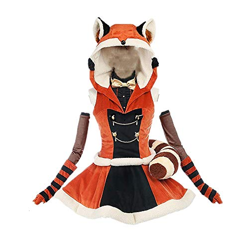 Disfraz de Cosplay Halloween Masquerade Anime LoveLive!Proyecto de ídolo Escolar Kotori Minami Lolita Vestido gótico Traje de Falda Linda con Accesorios 5PCS / Set