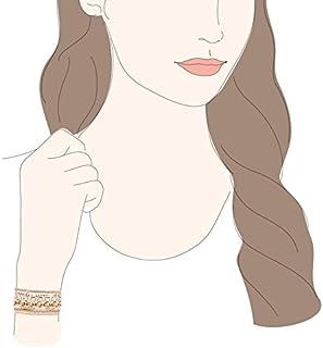 AGATHA PARIS Women Glass Bracelet Gold Plated 43.4 g