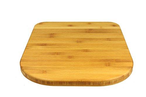 StreamBrush® Premium - Gleitbrett Holz-Gleiter Untersetzer aus Massivholz für den Thermomix TM5 / TM6 / TM31 Bambus SE