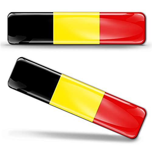 2 x sticker 3D gel siliconen stickers België vlag België vlag vlag vlag vlag vlag autosticker F 2