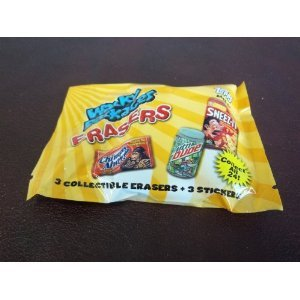 Topps Wacky Packages - Erasers Series 1 - 3 Pack Lot (9 Erasers & 9 Stickers)