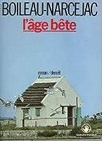 L'Âge bête 2207224406 Book Cover