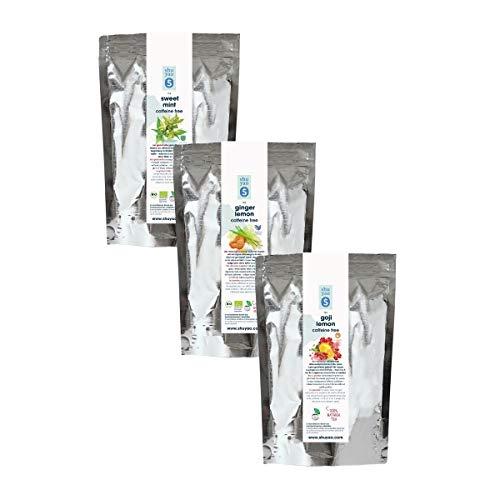 Shuyao Iced Tea Set 3x 50g loser Früchtetee ohne Koffein 150g