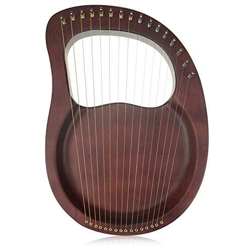 Nrpfell Lyre Harp, 16 Saiten Harp Heptachord Massiv Holz Mahagoni Lyre Harfe mit Stimm SchlüSsel für Musikliebhaber Kinder Erwachsene