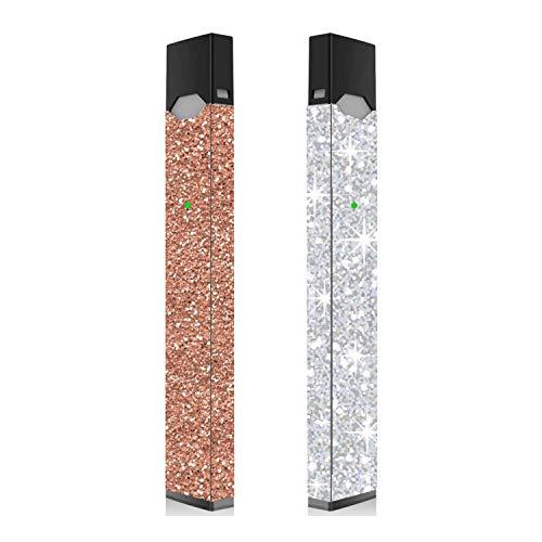 2 Pack - Rose Gold Glitter and Silver Glitter Skin for Vape | Wrap | Sticker