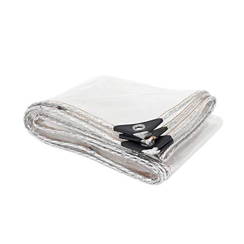 WZNING Cubierta de lluvia de plantas, lona de PVC transparente de 0,3 mm, cubierta al aire libre impermeable de servicio pesado, resistente al polvo, mantenga cálido, borde de plata Durable y protecto