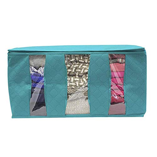 KYEEY Clothes Storage Bag Non-woven Space Saver Clothes Quilt Blanket Storage Bag Box Organizer Portable Suitable For Home Clothing Storage