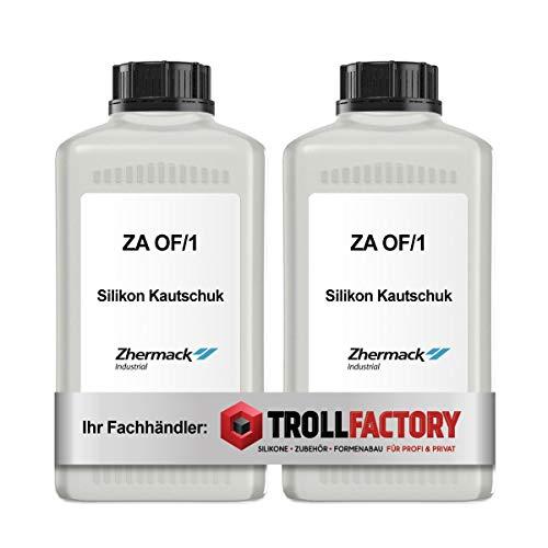 Zhermack Silikon Kautschuk ZA OF1 weich Elektro-Verguss Schutz Dämpfung Dubliersilikon transluzent gelartig flüssig 2kg
