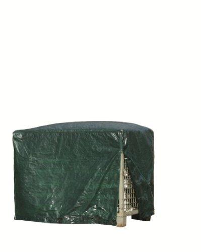 Rainexo RX120-GIB-G Bâche avec fermeture éclair pour conteneur grillagé, 120 g/m², vert, 125 x 85 x 98 cm
