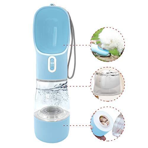 Botella de agua para perros, dispensador de agua, multifuncional para perros, gatos, comedero de cachorros, cuencos de viaje con alimentos..