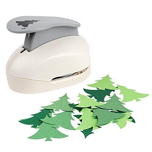 Troqueladora gigante, diseño de árbol de Navidad, perforadora para papel, crea por ejemplo tarjetas de felicitación o etiquetas de regalo para Navidad | Perforación: aprox. 4,3 cm x 4 cm