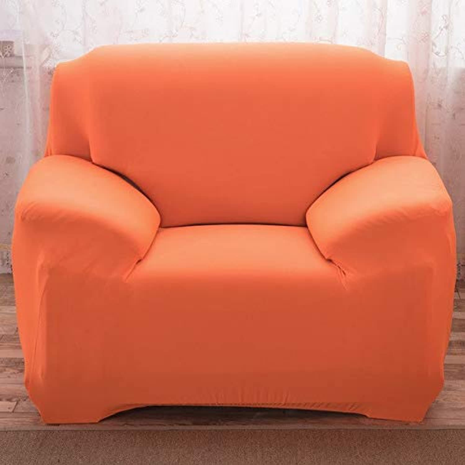 2017 Mulitcolor Sectional Flexible Stretch Sofa Cover Big Elasticity Couch Cover Single Double There Four -seat Sofa Cover   orange, Single seat Sofa
