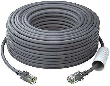 ZOSI Cat5e Ethernet Cable 100ft White High Speed Network RJ45 Wire Cord for POE Security Cameras product image