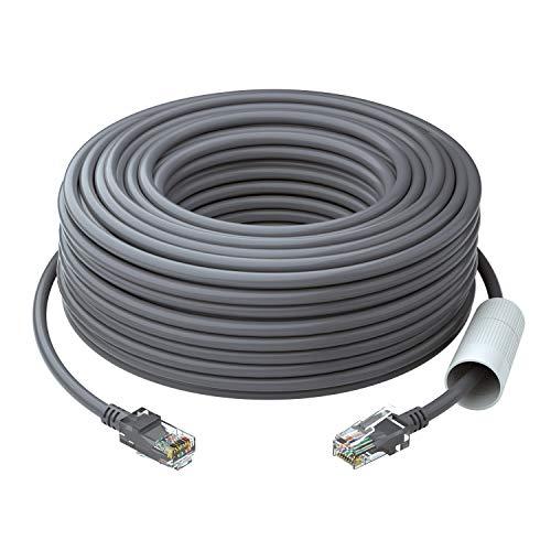 ZOSI 30 Metros Cable de Red Ethernet LAN RJ45 CAT5E para PoE Cámara, NVR, Enrutador, Computador, TV