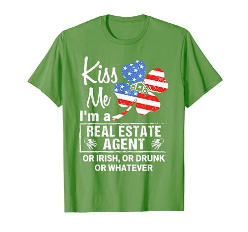 Bésame Soy un agente inmobiliario o irlandés o borracho Camiseta