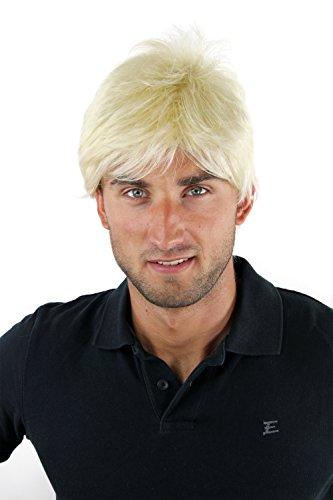 WIG ME UP - Parrucca Uomo Corta Giovanile Disinvolta Scompigliata Arruffata Alla moda Biondo platino Toupet Nuova GFW1169-613