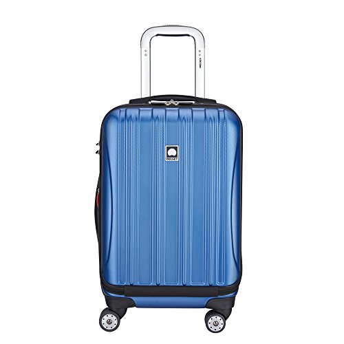 DELSEY Paris Helium Aero Hardside Expandable Luggage with Spinner Wheels, Blue Textured, Carry-On 19 Inch