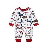 OUlike Fashion Baby Strampler Kinder Baby Jungen Gentleman Jumpsuit Bodysuit Langarm Weihnachten Elch Jumpsuit Strampler Gr. 6-12 Monate, Camper