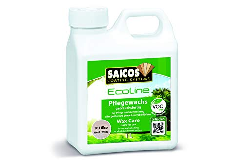 Saicos Colour GmbH 8111Eco 409 8111 Ecoline Pflegewachs, Weiß transparent