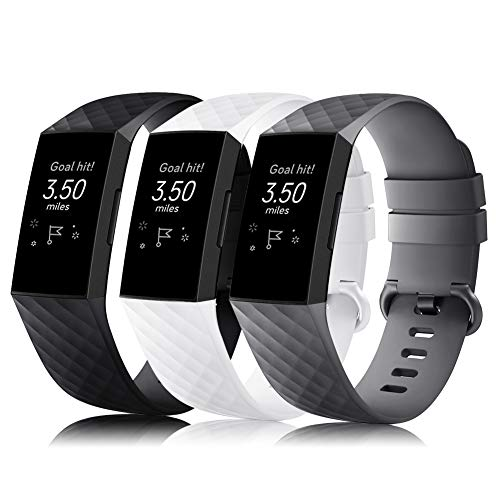 Gogoings Correa Compatible para Fitbit Charge 4/Charge 3 Pulsera Mujer Hombre Ajustable Correa de Reemplazo Deportivo para Charge 3/Charge 4 Edición Especial(Sin Reloj)