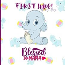 """Baby Boy Blessed MAMA: Baby Girl Shower Guest Book With Advice, Wishes Sign In Book for Baby Girl - 8.25"""" x 8.25"""" 150 pages"""