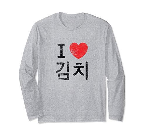 Linda Comida Coreana Me Encanta Kimchi Manga Larga