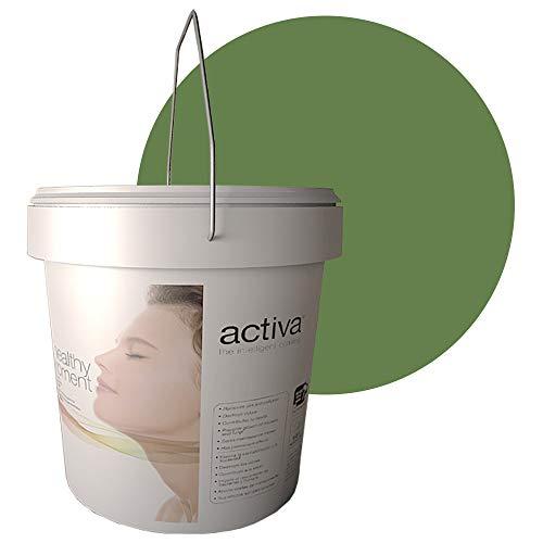 PHOTO WALL Verde Oliva. Pintura Fotocatalítica. Transpirable para interior. Antivirus y Antibacterias, Descontaminante, Antiolores, Autolimpiable. 4L
