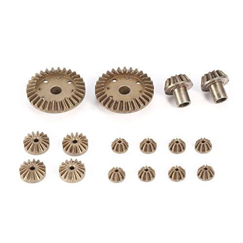Ballylelly 12 T 24 T 30 T Metall Vorne Hinten Differentialgetriebe/Motorantriebsgetriebe Upgrade Ersatzteile für WLtoys 12428 12423 1/12 RC Auto