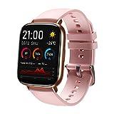 SANAG Smartwatch Damen mit Körpertemperatur Messen Fitness Tracker mit Herzfrequenz Schlafüberwachung Kalorien Schrittzähler Damen Herren Armbanduhr Sportuhr für iOS Android