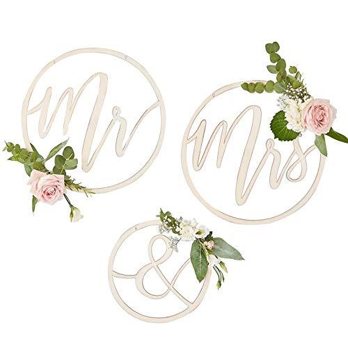 Plaque de chaise murale Mr & Mrs en bois pour décoration de mariage / écriture / image murale / décoration de chaise / accessoires de mariage