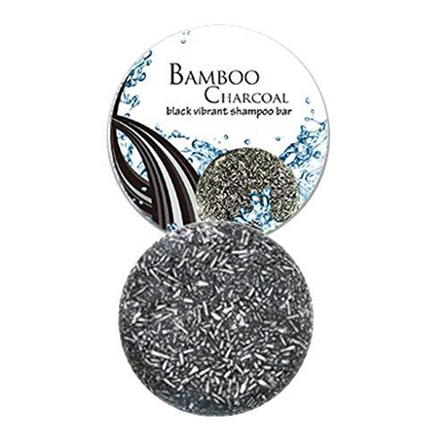 Handgemachte Seife Shampoo Seife Silikonfreie Bambuskohle Haarverdunkelungsshampoo Riegel - Natürlicher Bio-Conditioner und Reparaturessenz 50g