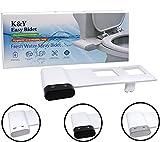 K&Y Easy Bidet Toilet Sprayer - Non Electric Bidet Attachment, Modern Toilet Butt Washer, Fresh Water Bidet Spray Nozzle, Adjustable Water Pressure (Posterior & Feminine Mode)