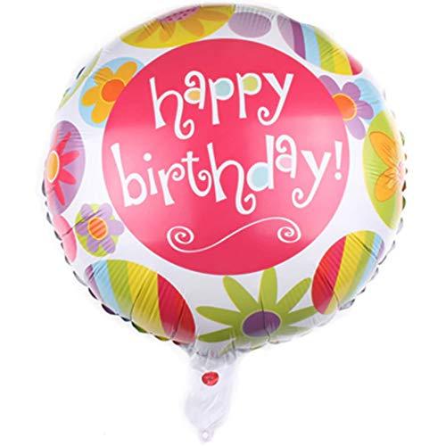 DIWULI, Geburtstags Luftballon Happy Birthday, Folien-Luftballon Blumen, Geburtstagsballon, Folien-Ballon Sonnen-Blume bunt Geburtstag, Mädchen Junge Kinder-Geburtstag Party, Dekoration, Geschenk-Deko