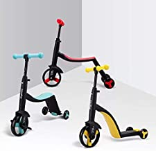 GEZRIL 3 in 1 Scooter for Kids Adjustable Height Lean to Steer Extra Wide Deck Outdoor Scooter for Girls and Boys - Assorted Colour