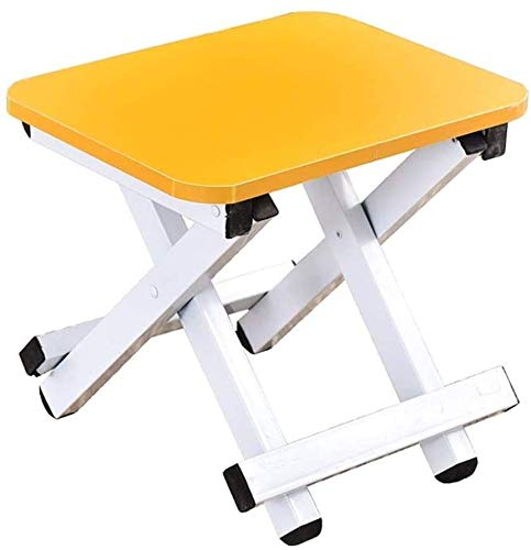 Folding footrest - Children and Adults with Foldable footrest Folding Stool, Kitchen Garden Bathroom,Yellow
