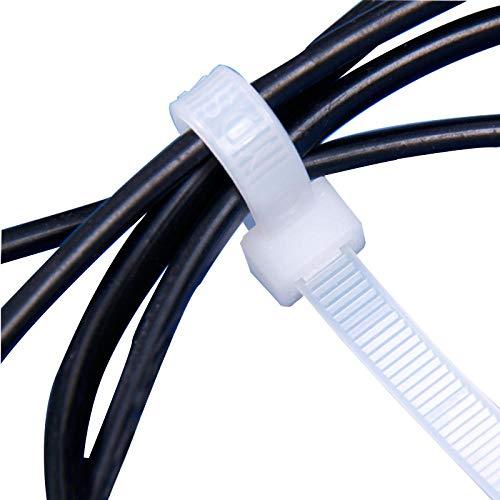 100 piezas de tres modos de autobloqueo de plástico de nylon Cable...