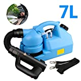 GESUNDHOME Portable 7L Electric Intelligent ULV Fogger/Sprayer/Atomizer - Ultra Low Capacity 110V Backpack Machine - Atomization Distance 6-8 Meters - Idea for Indoor Outdoor Garden Yard