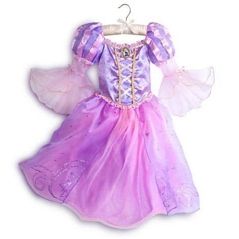 DS Disney Store - Disfraz de niña original Princesa Rapunzel, 7-8 años