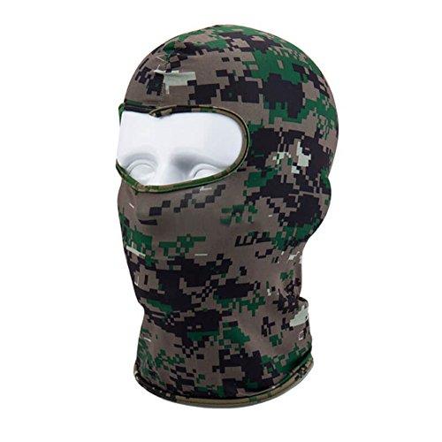 Sturmhaube/Gesichtsmaske für den Winter, für Outdoor-Sport, Motorradfahren, Fahrradfahren, Unisex , Digital Camouflage, Einheitsgröße