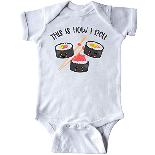 inktastic Kawaii How I Roll Sushi Infant Creeper 6 Months White 38b8d