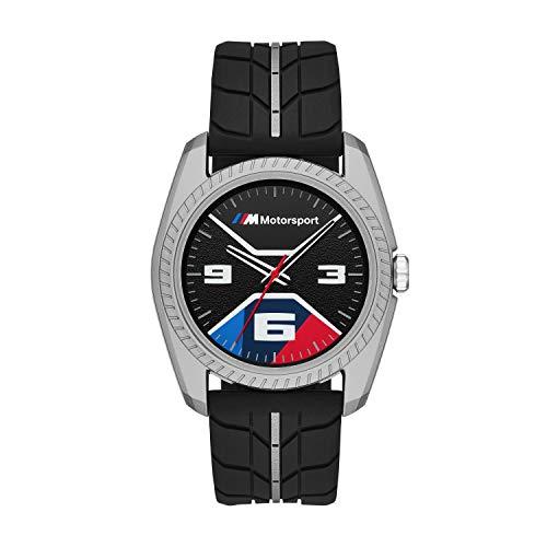 BMW Reloj Analógico para Hombre de Cuarzo con Correa en Silicona BMW1005