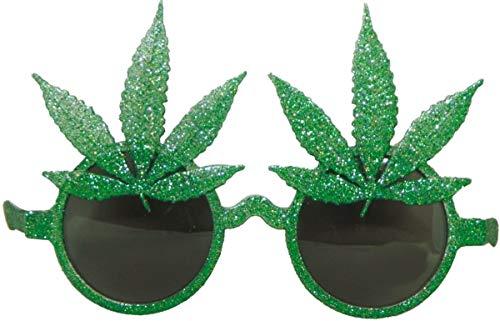 Folat 00705 Brille Cannabisblätter, Grün