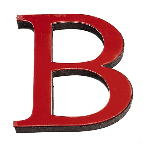 CREATCABIN 5PCS Alfabeto Espejo Pegatinas Acrílico 26 Letras Espejo 3D Pegatinas de Pared Corazón Y Forma DIY Calcomanías de Pared para Sala de Estar Dormitorio Cocina Decoración de Pared, Rojo